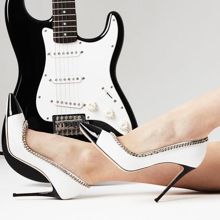 Black and White Julia Kristen Pumps