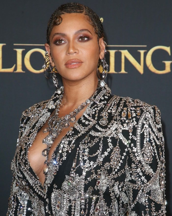 Beyoncé's crystal-embroidered Alexander McQueen tuxedo-style dress