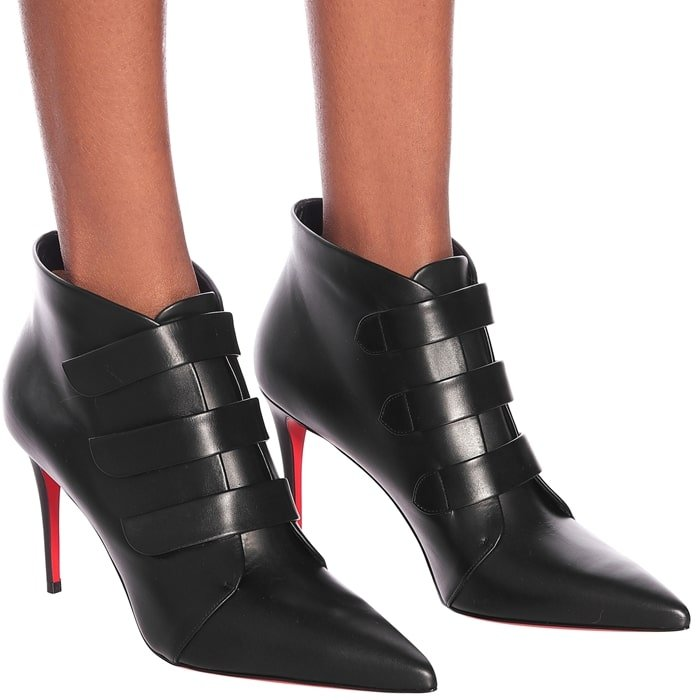 CHRISTIAN LOUBOUTIN Triniboot 85 leather ankle boots