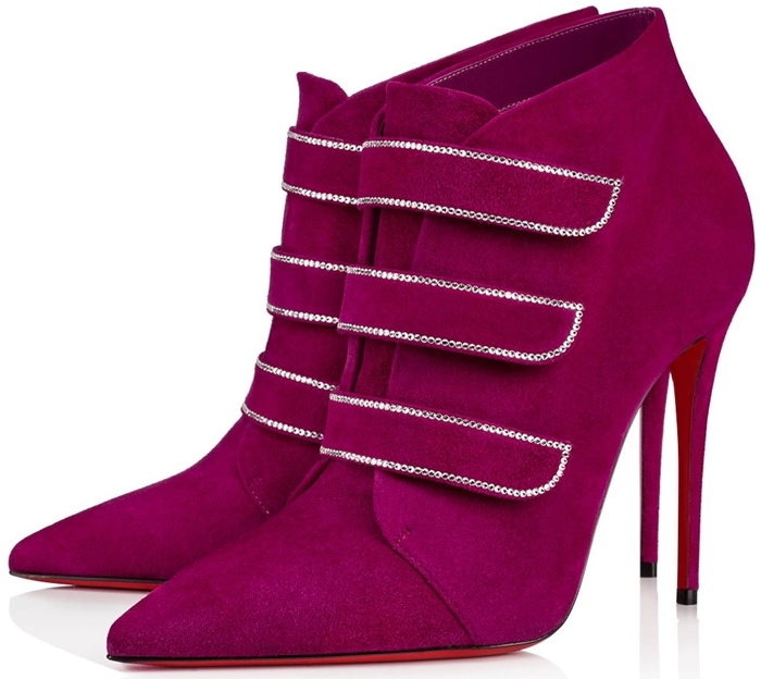 Christian Louboutin Purplish Pink Triniboot Suede Boots