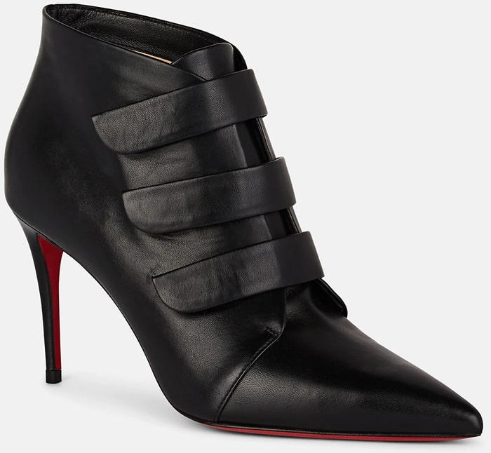 Christian Louboutin's Triniboot ankle boots are crafted in Italy of black smooth leather