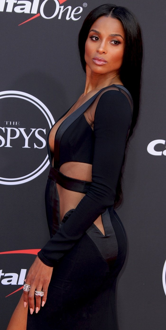 Ciara's dated Alexander Vauthier cutout dress