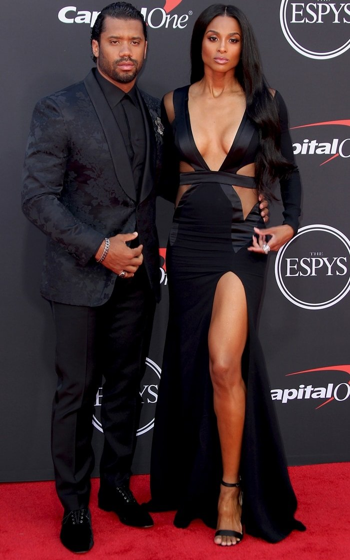 Ciara and her husband Russell Wilson at the 2019 ESPYs