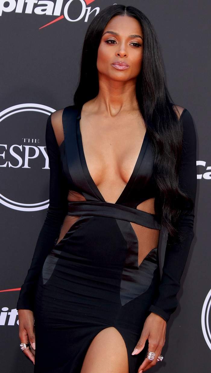 Ciara wore a tacky wrinkled dress at the 2019 ESPY Awards