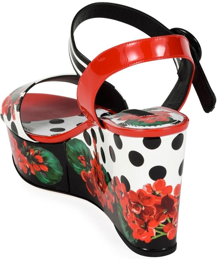 Dolce & Gabbana Geranio Platform Wedge Sandal