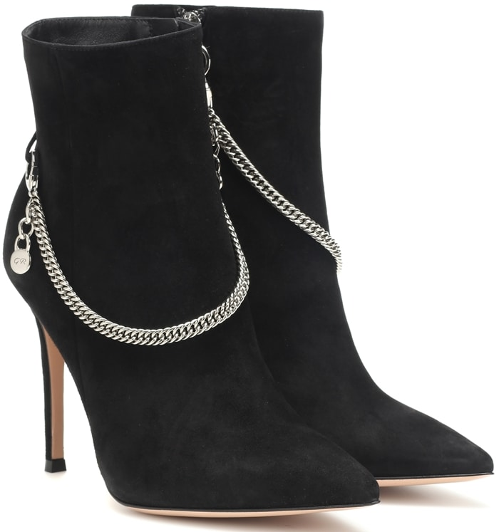 The Annie ankle boots from Gianvito Rossi will be sure to elevate any ensemble with their 115mm stiletto heel