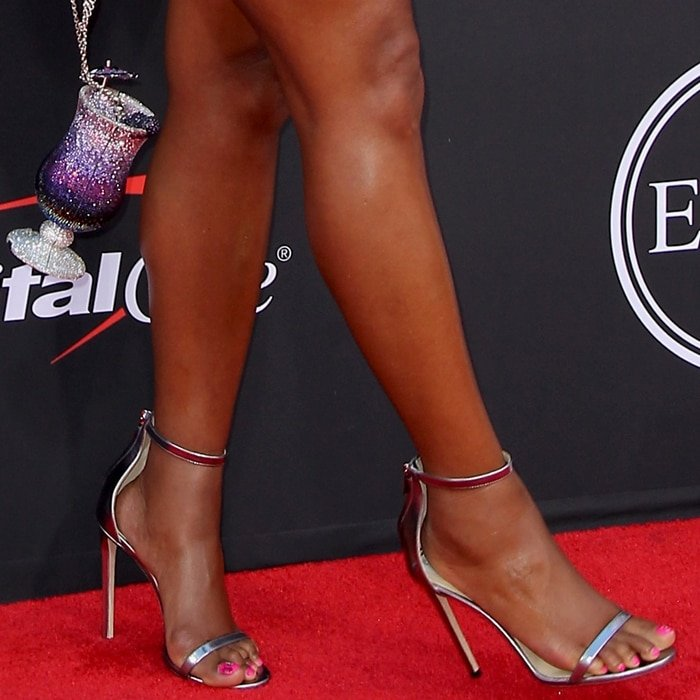 Gabrielle Union shows off her sexy feet in Jimmy Choo sandals
