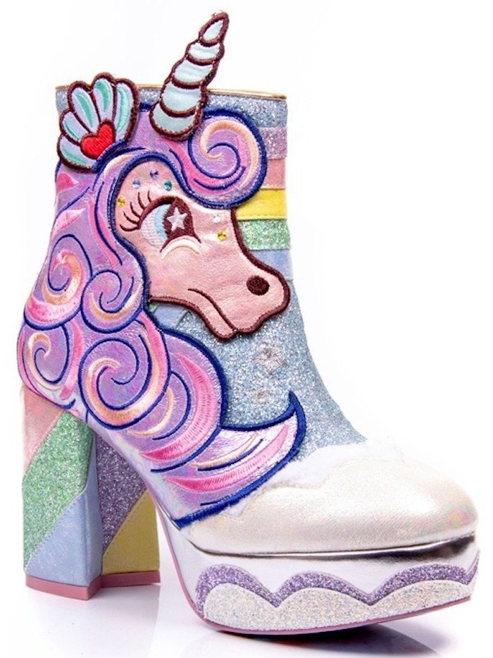 Irregular Choice my little pony block heel boots