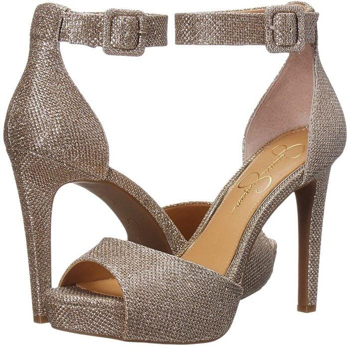Sparkling Gold Mesh Retro-Inspired Divene Sandals