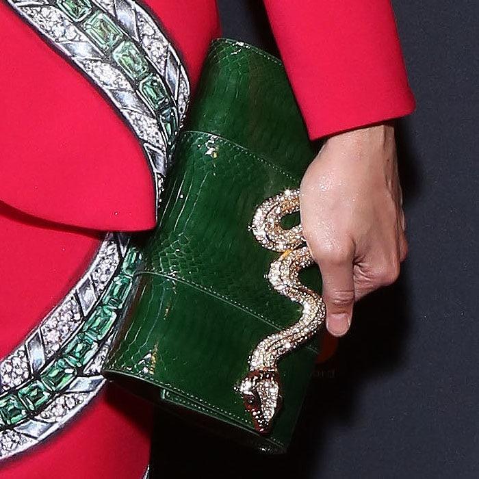 Judith Lieber Serpent snakeskin bag