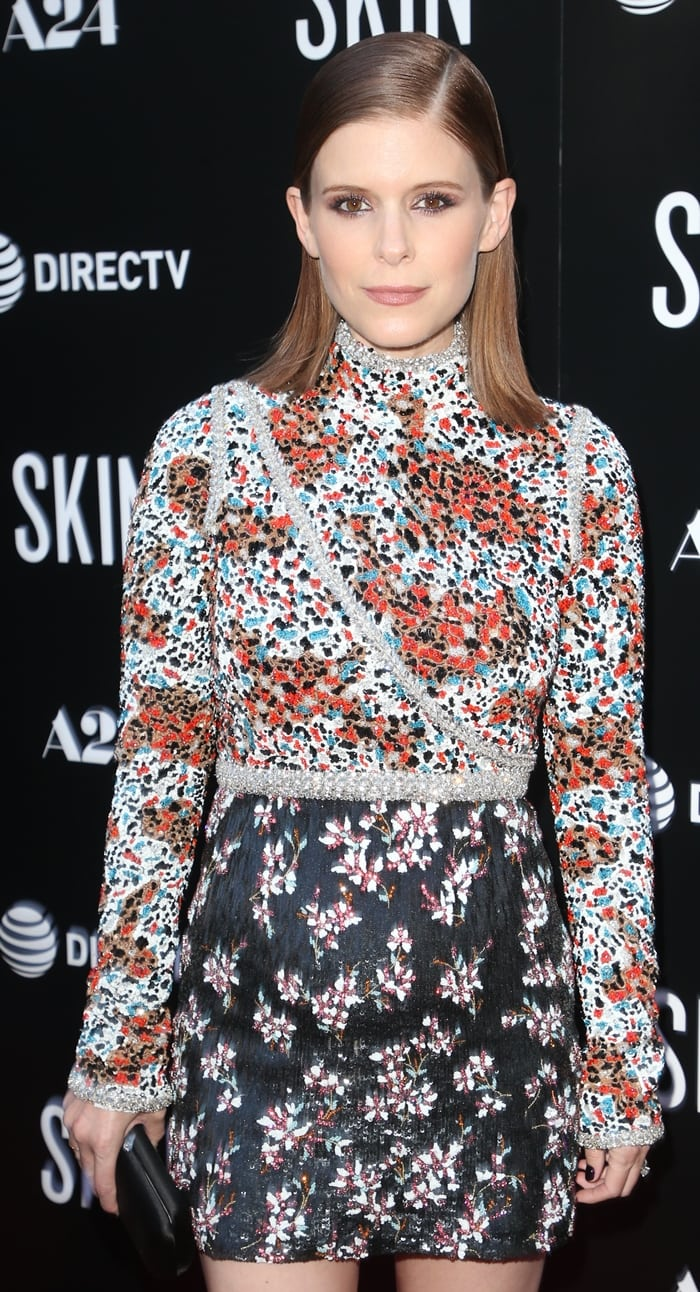 Kate Mara's multi-floral printed Giambattista Valli dress