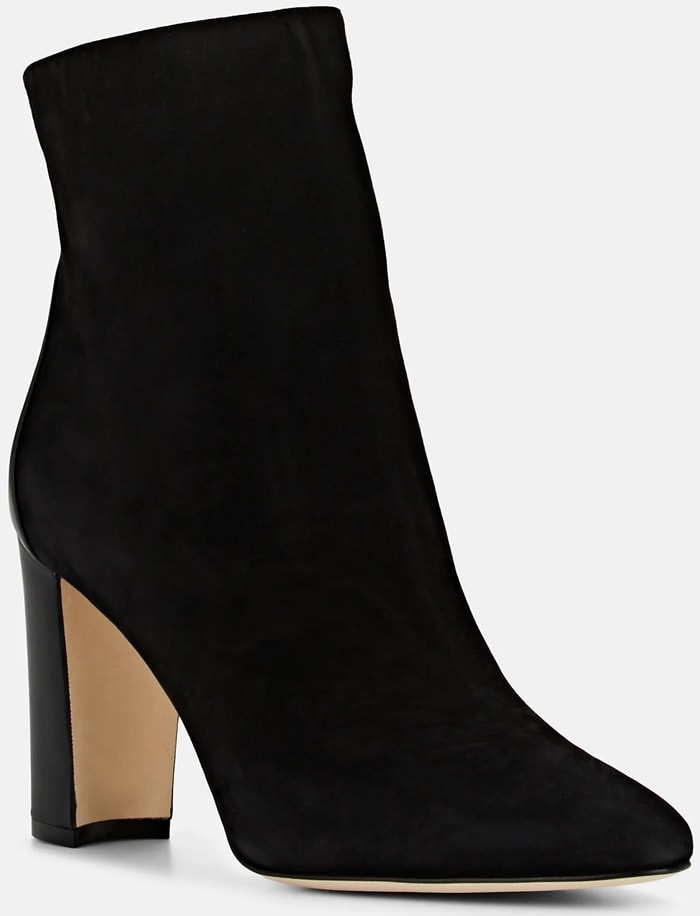 Black Rosie Suede & Leather Ankle Boots