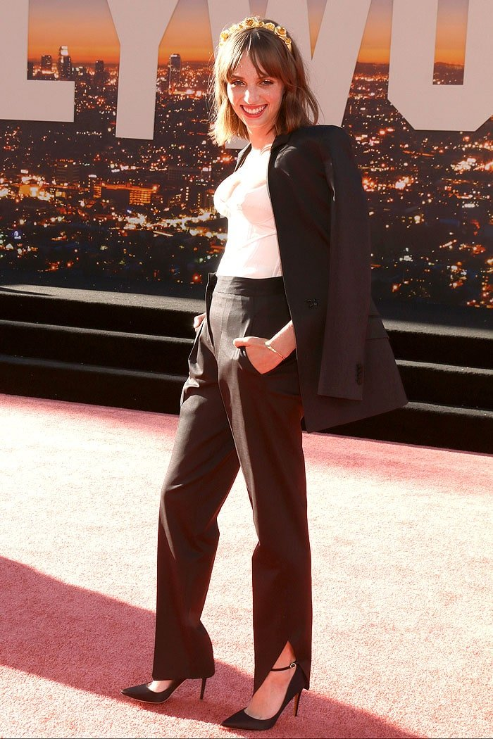 Maya Hawke at the Once Upon A Time in Hollywood premiere