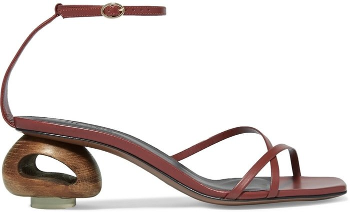 These 'Phippium' sandals have been made in Italy from tan leather and designed with barely-there straps and a squared-off toe