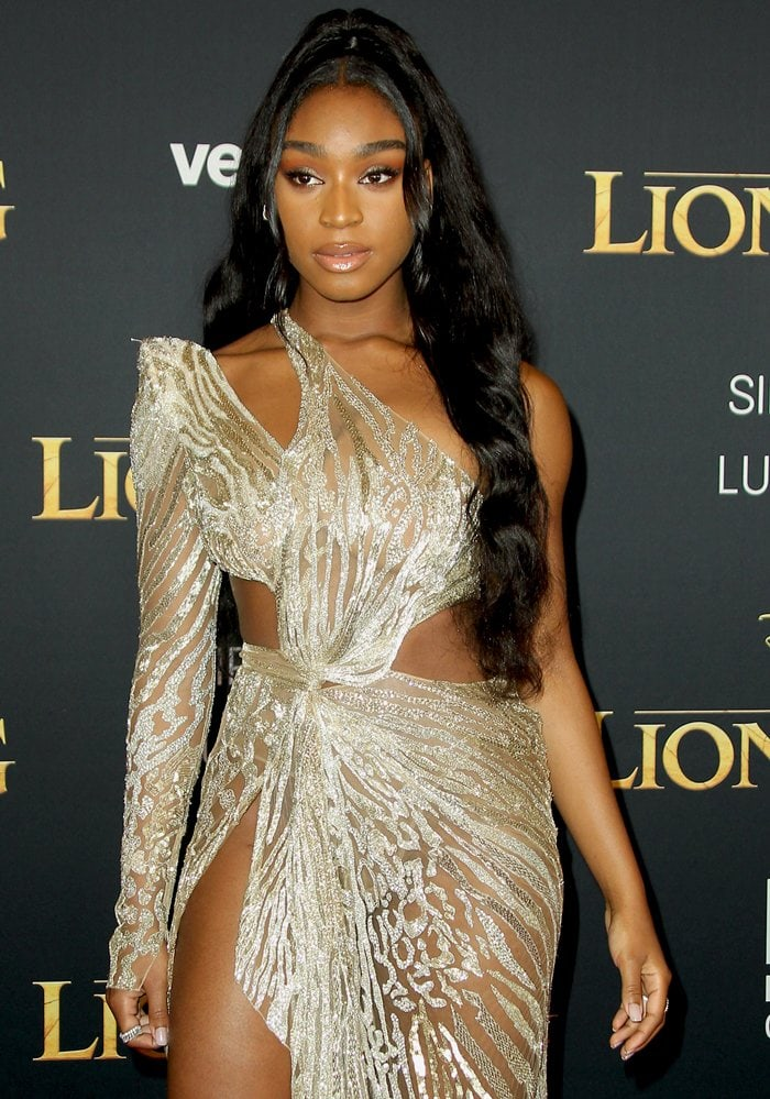 Often compared to Beyonce, Normani Kordei was criticized for wearing this look to a family movie
