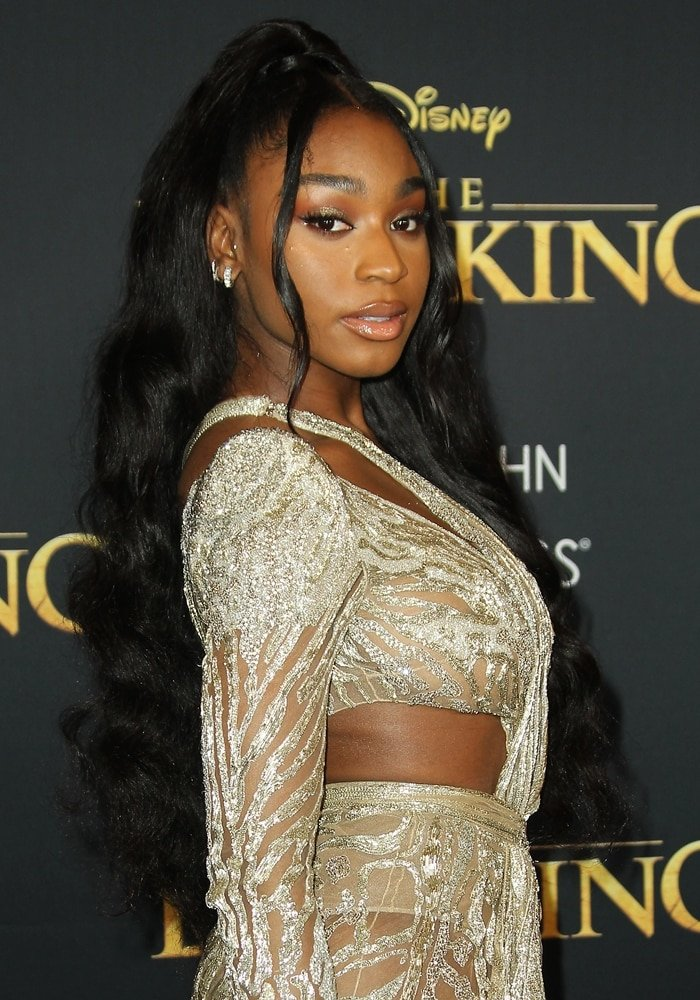 Normani Kordei at the premiere of The Lion King at the Dolby Theater in Hollywood