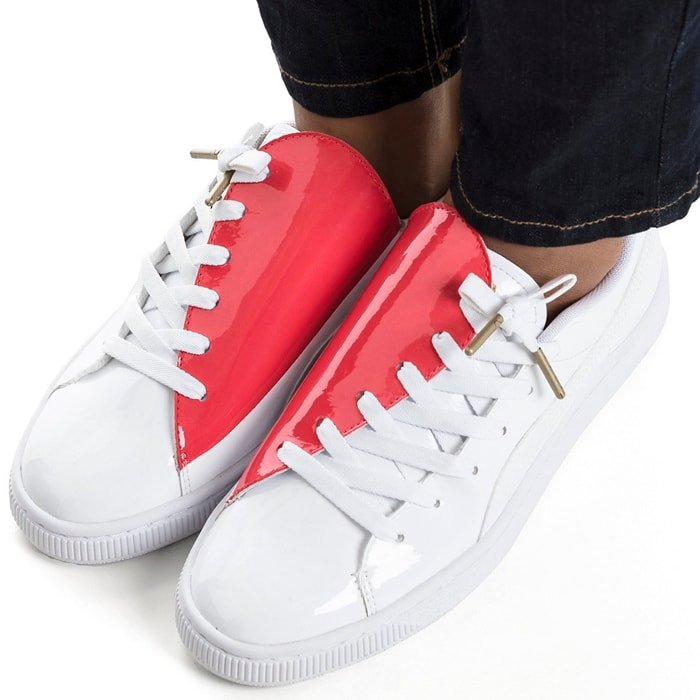 b9ab2f16c87b5 Heart-Shaped Low-Top Basket Crush Sneakers With Colorblock Design