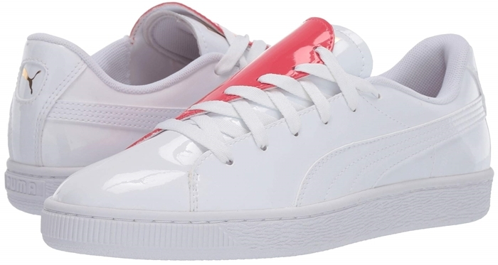 Puma Basket Crush low-top sneakers in leather with heart-shaped colorblock design