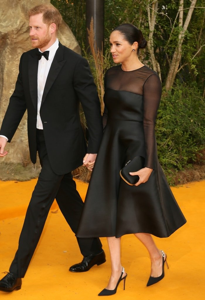 Prince Harry and Meghan, Duchess of Sussex arrive at the European premiere of The Lion King