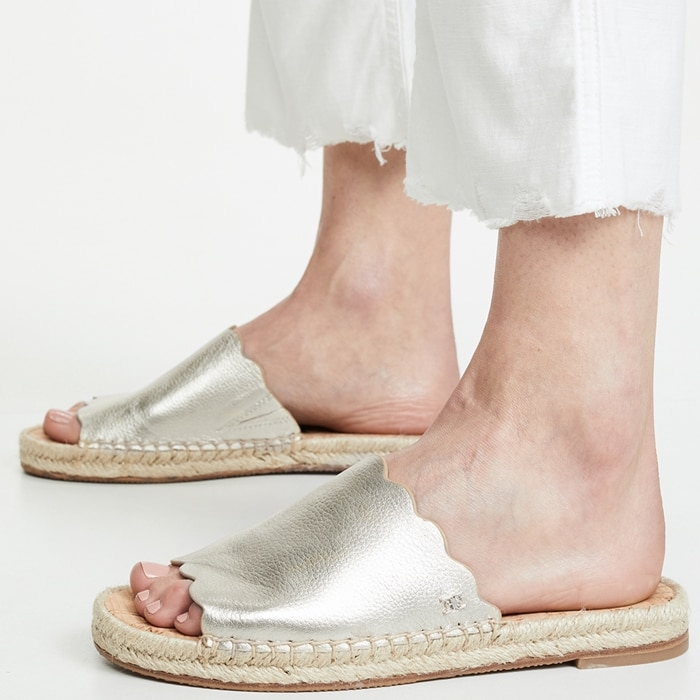 A minimalist sandal with fun, summery detailing