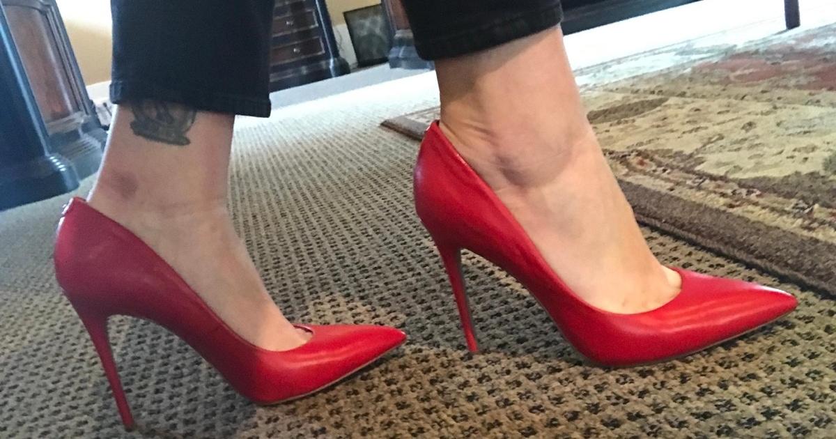 Red Danna Stilettos Worn by Landry Bender