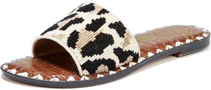 These beaded slide sandals for women are embellished to perfection