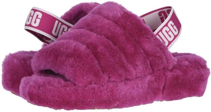 Fuchsia Fluff Yeah Slippers