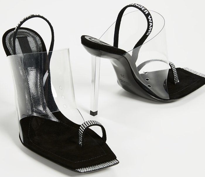 Kaia Sandals With Crystal Detailing