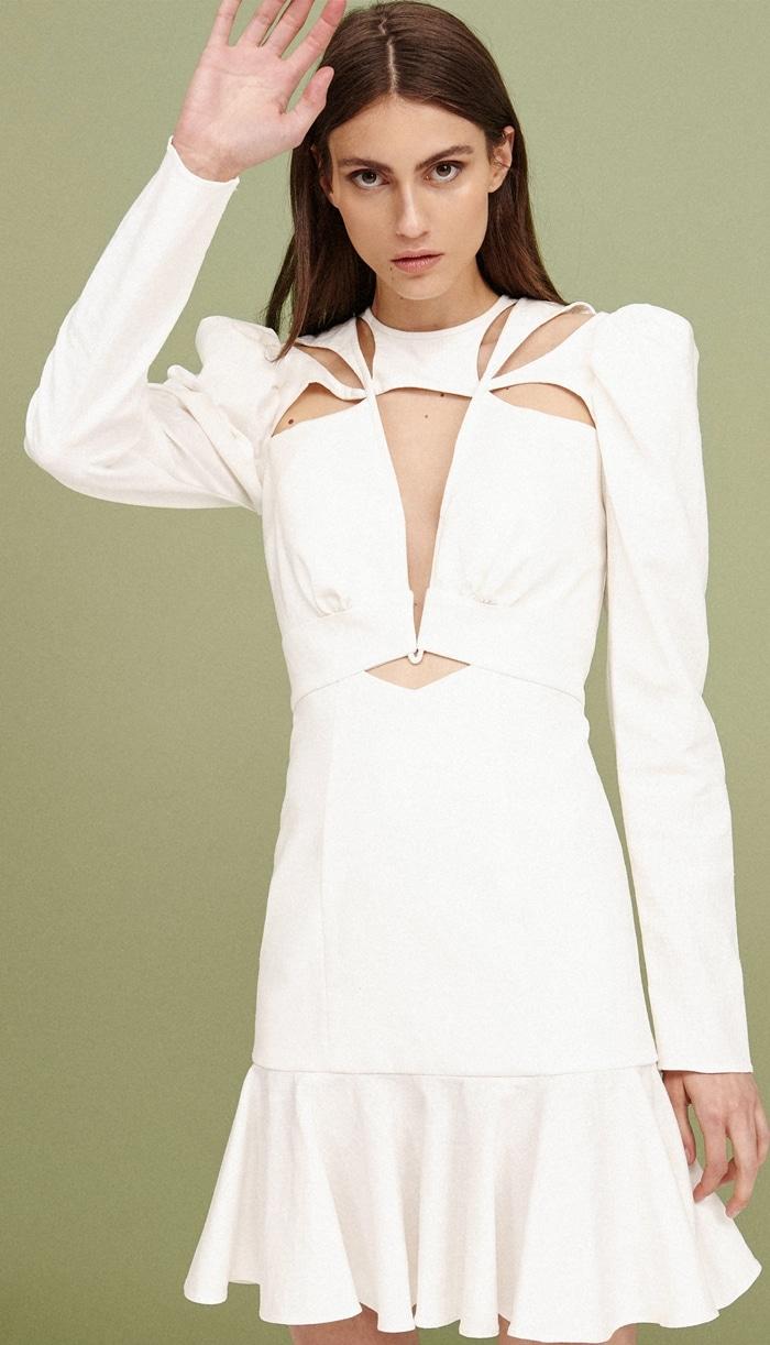 Acler Lapkus Cutout Long Sleeve Mini Dress