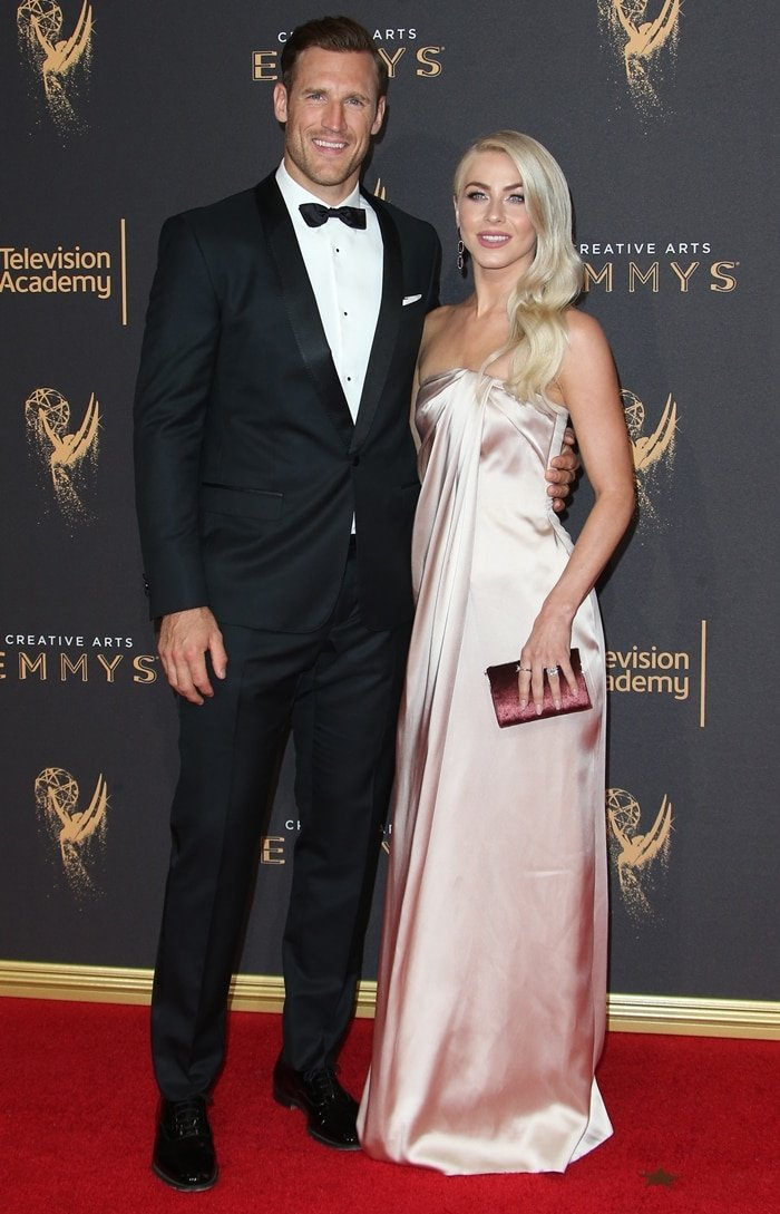 Newlyweds Julianne Hough and Brooks Laich at day one of the 2017 Creative Arts Emmy Awards
