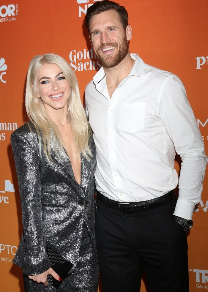 Actress Julianne Hough and husband Brooks Laich attend The Trevor Project's 2017 TrevorLIVE LA