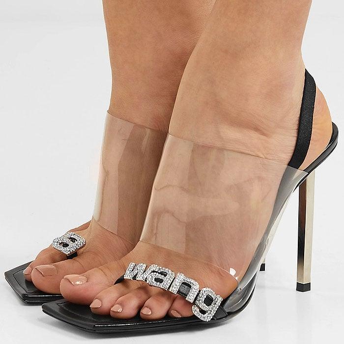 Alexander Wang Kaia Crystal Sandals