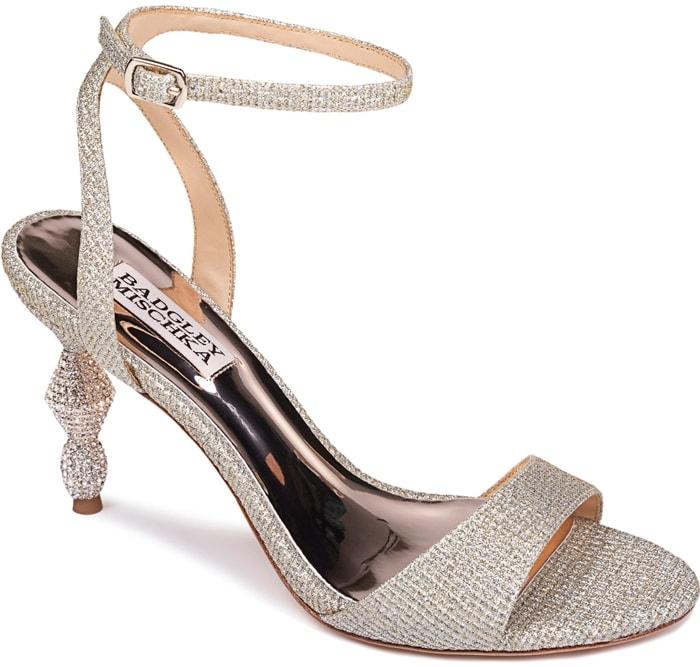 Evamarie Embellished Statement Heel Sandals