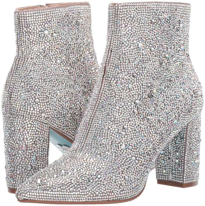 Your friends will be envious when they see you in this Blue by Betsey Johnson Cady dress booties