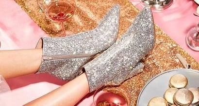 betsey johnson glitter boots
