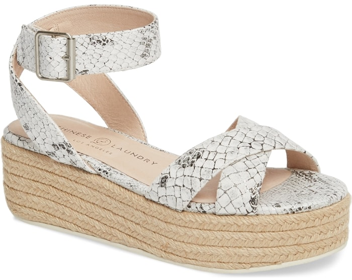 No look would be complete without the Zala espadrille flatform sandals on your feet
