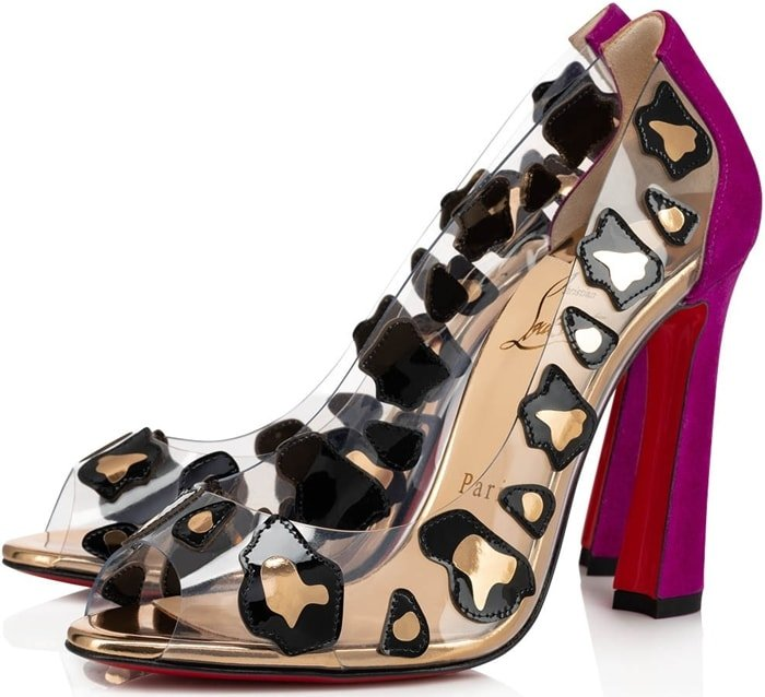 Christian Louboutin has always been a fan of optical illusions and the Parsefal peep-toe pump is no exception
