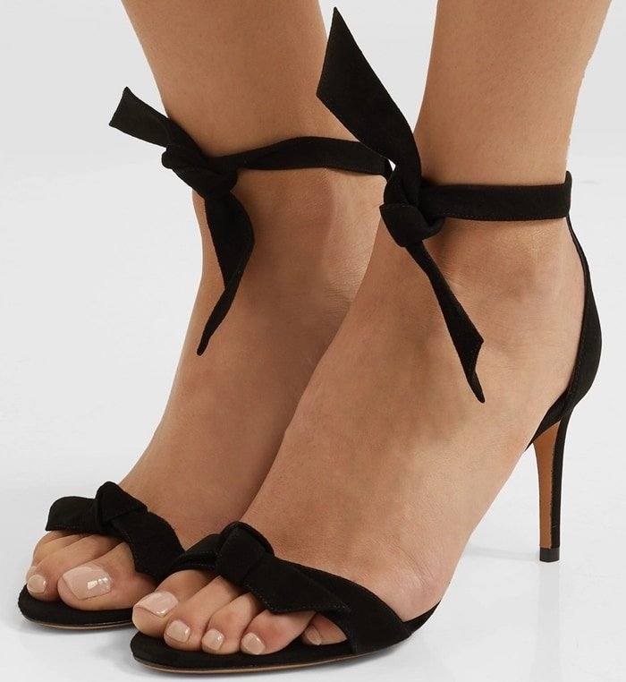 ALEXANDRE BIRMAN Clarita bow-embellished black sandals