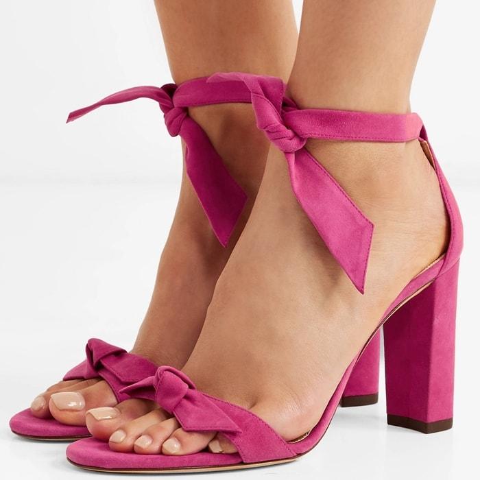 ALEXANDRE BIRMAN Clarita bow-embellished fuchsia sandals