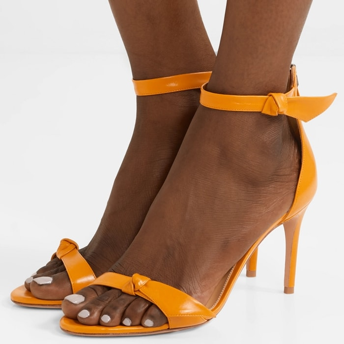 ALEXANDRE BIRMAN Clarita bow-embellished orange sandals