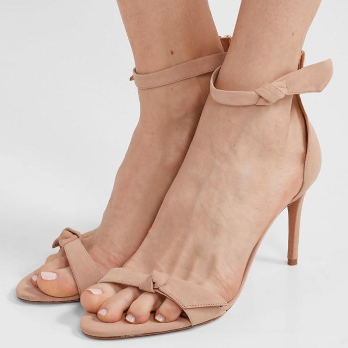 ALEXANDRE BIRMAN Clarita bow-embellished sand sandals