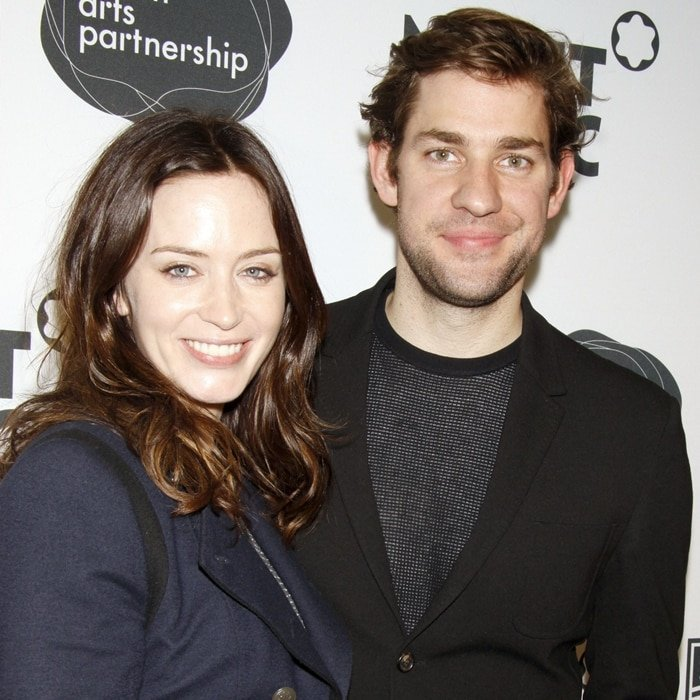 Emily Blunt and John Krasinski met for the first time at a restaurant in 2008