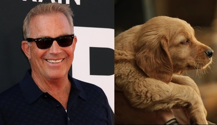 Kevin Costner voices a Golden Retriever named Enzo in The Art of Racing in the Rain