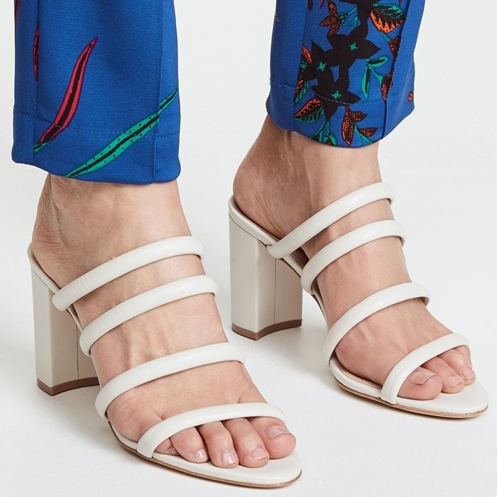 Felisa Block Heel Sandals With Four Row Tubular Straps