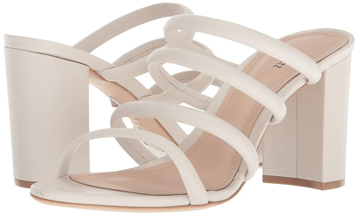 Attractive four-row straps make a dynamic statement on these essential leather Felisa sandals