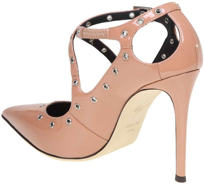 Pink Paint Alyson High-Heel Black Pumps