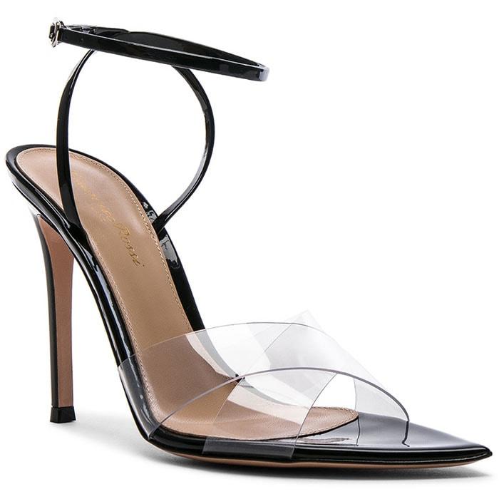 Gianvito Rossi Stark Sandals in Transparent and Black