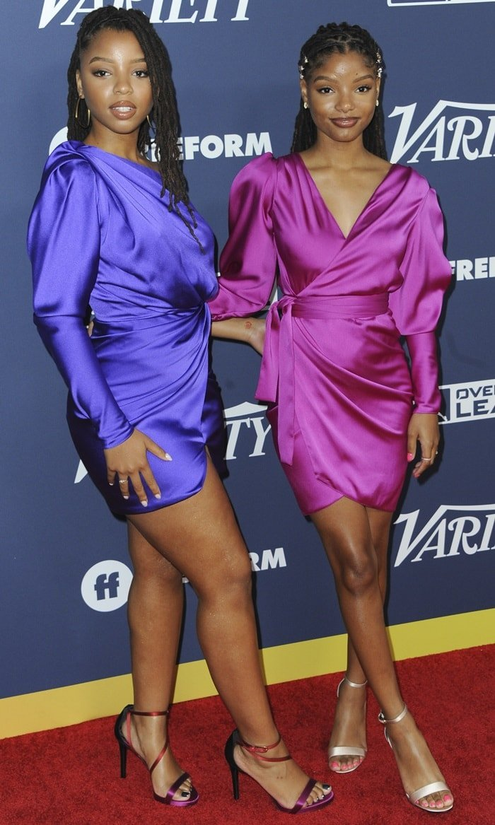 Sisters Chloe and Halle Bailey flaunt their legs for Variety's 2019 Power of Young Hollywood event