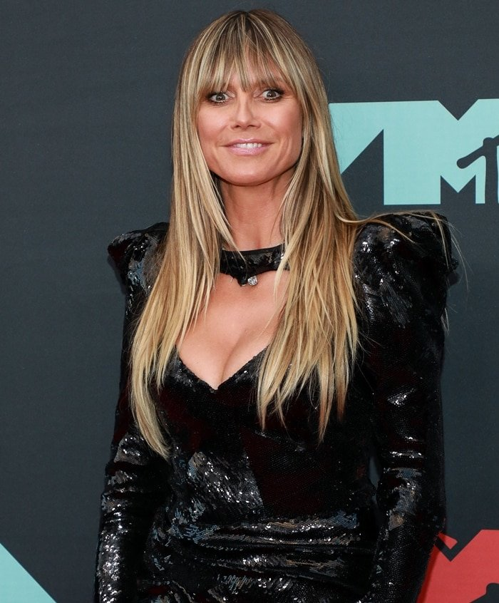 Heidi Klum shows off her pinched nose