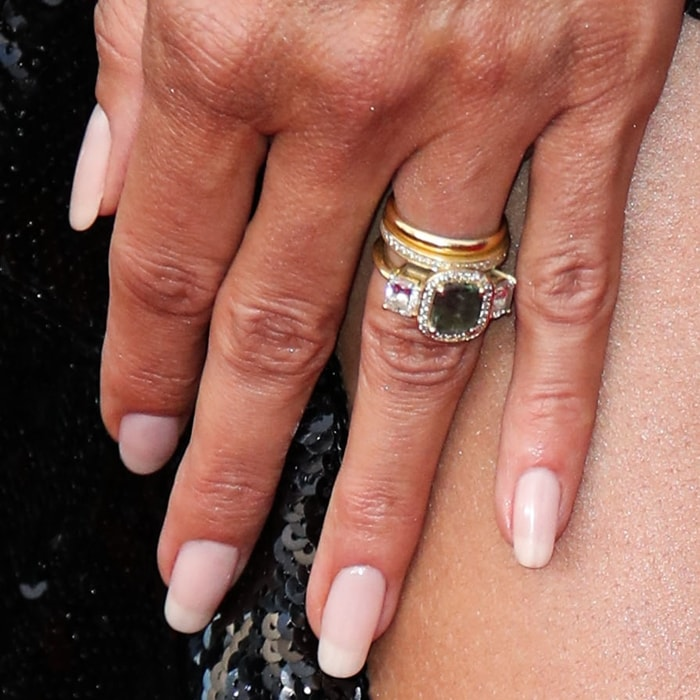 Heidi Klum showed off her latest engagement and wedding rings